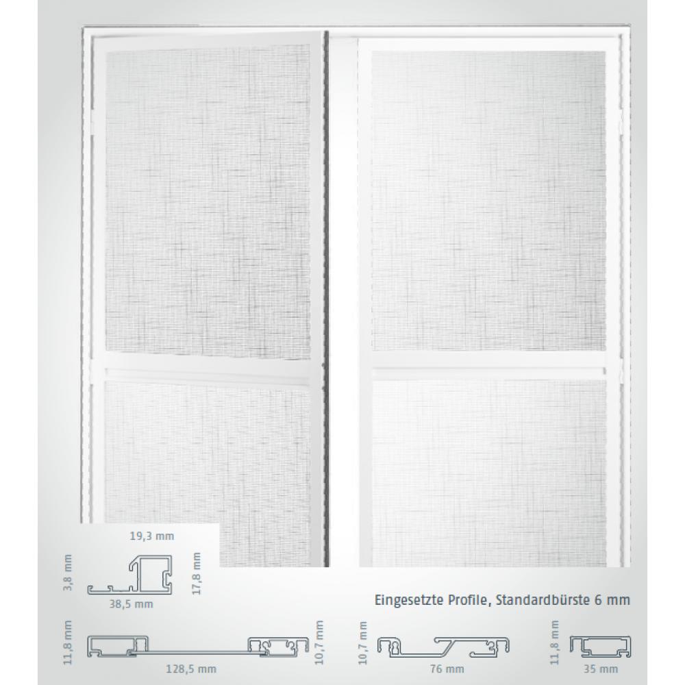 fliegengitter doppeltür für balkonüren - insektenschutz doppel tür