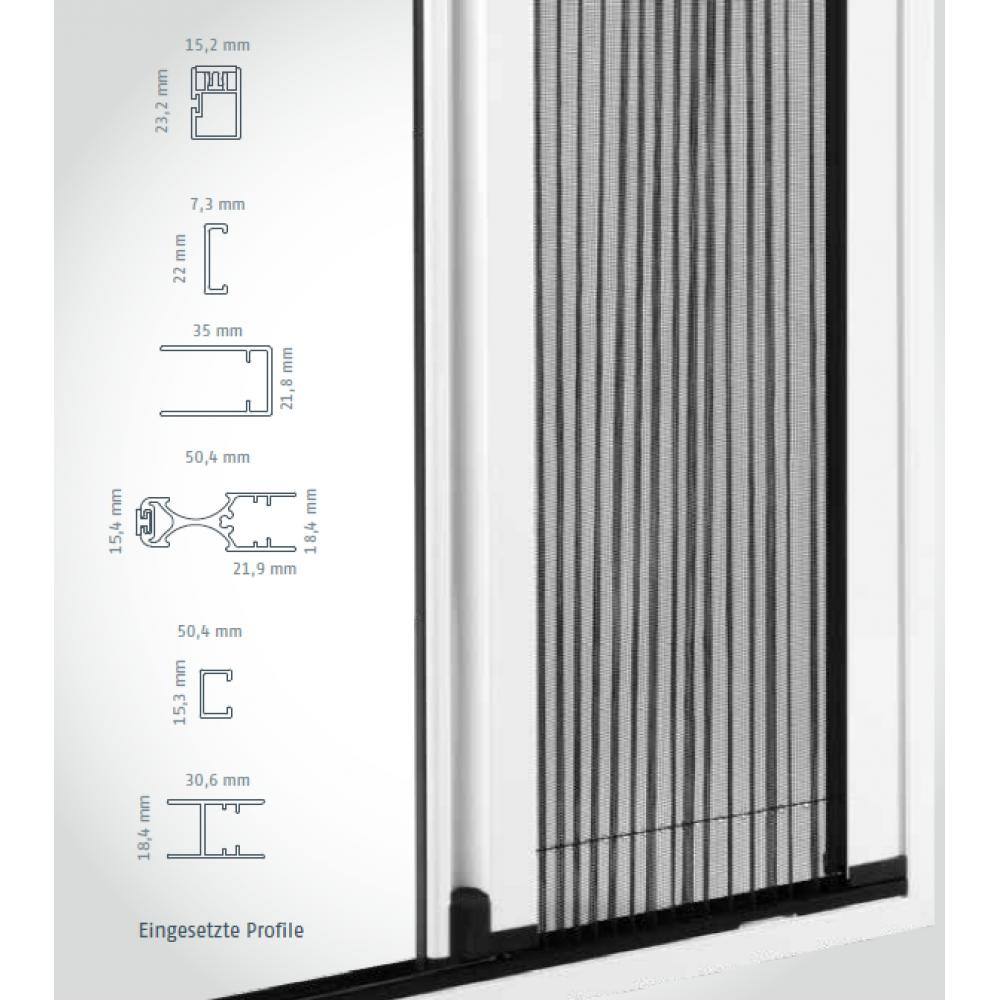 fliegengitter insektenschutz plisseet r in front montagerahmen f r balkont r terassent r. Black Bedroom Furniture Sets. Home Design Ideas