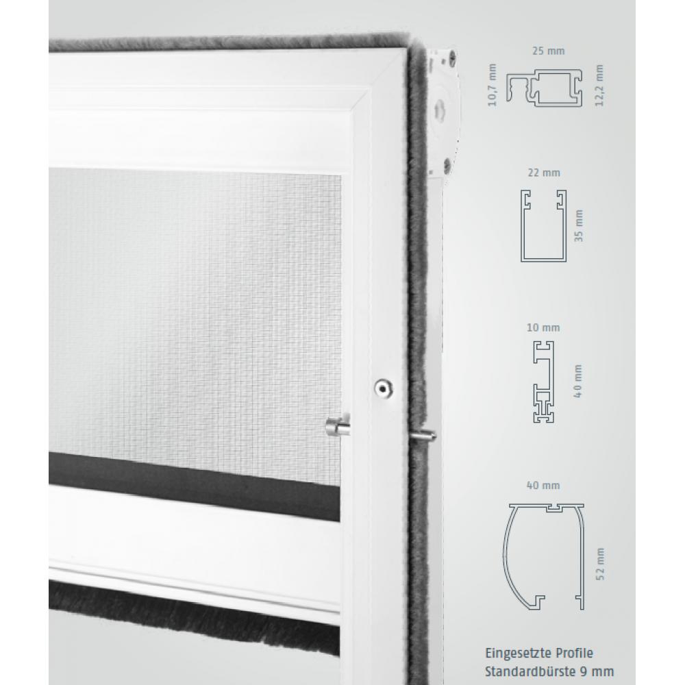 fliegengitter rollo insektenschutz rollo auf montagerahmen. Black Bedroom Furniture Sets. Home Design Ideas