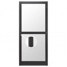 Fliegengitter Insektenschutz Tür flach Falz im Zargenrahmen - 1,5 mm Einbautiefe nach außen